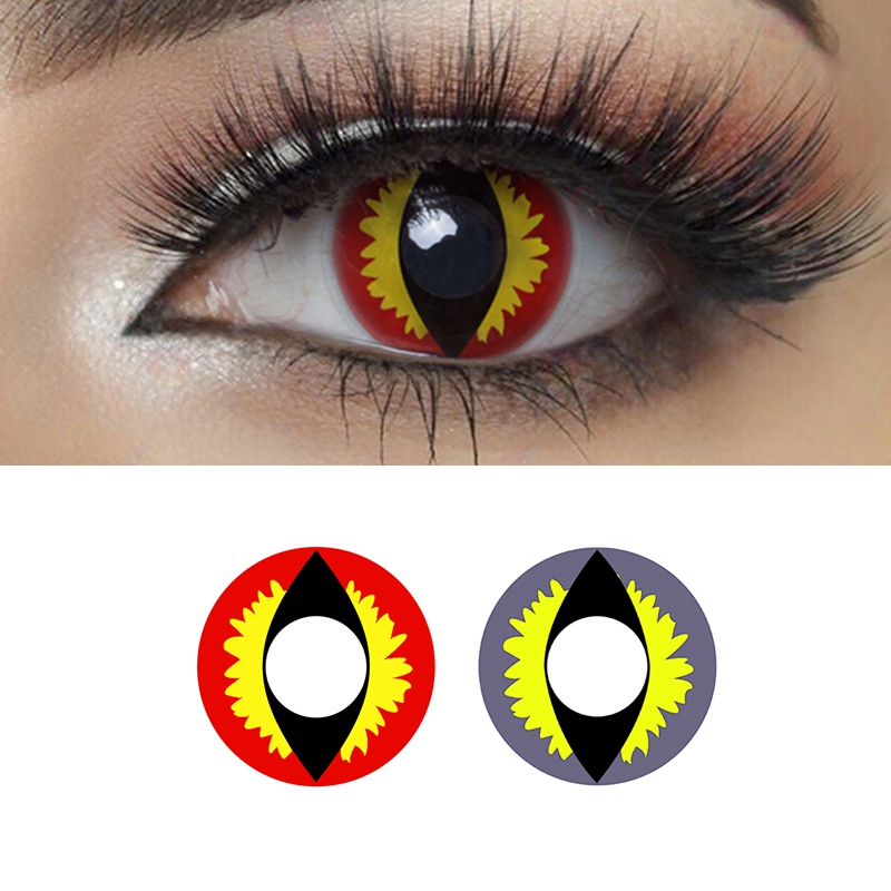 Lizard Eye Halloween Contacts  Annual Cosplay Colored Contact Lenses