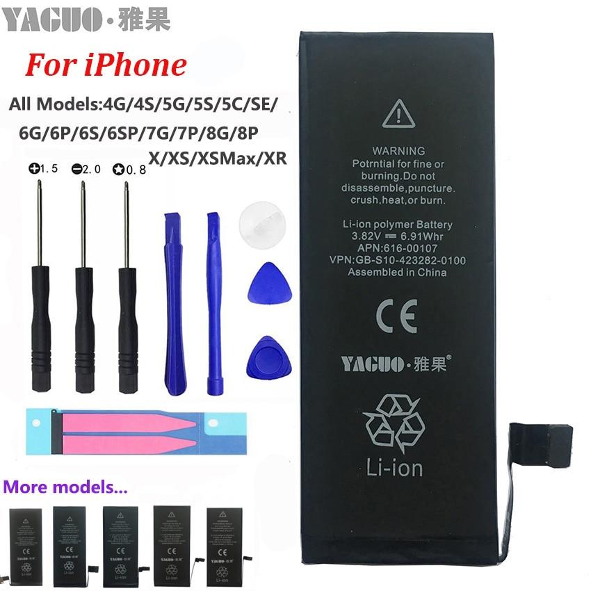 Phone-Battery Free-Tools-Kit Apple Real-Capacity 8-Plus Original SE for iPhone/4/4s/..