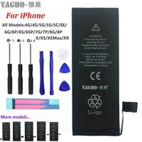 100% nueva batería Original del teléfono para Apple iPhone 4 4S 5 5S 5C SE 6 6S 7 8 Plus X XS MAX XR capacidad Real 0 Kit de herramientas sin ciclo