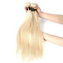 Blonde-Extensions Human-Hair Straight-Bundles Yellow Brazilian Fedex Weave Double-Weft