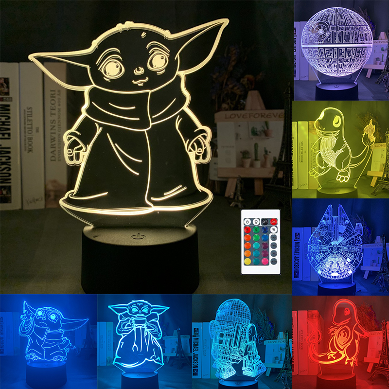 3D LED night light starry sky cartoon anime bedroom decoration night light 16 color changing USB table <font><b>lamp</b></font> <font><b>dragon</b></font> <font><b>ball</b></font> gift toy image