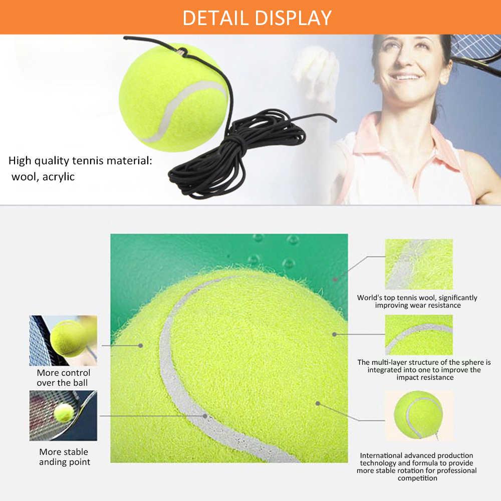 Tenis uygulama eğitmen tek kendinden çalışma tenis eğitim aracı egzersiz ribaund topu süpürgelik Sparring cihazı tenis aksesuarı