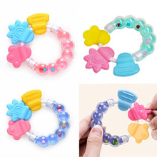 Toy Toddler Bed Newborn-Baby Security Bell Rattles Jingle Babies Cartoon Silicone 1pcs
