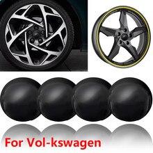 4pc estilo do carro roda centro hub tampas decalques adesivos emblemas para volkswagen- polo golf 3 4 5 6 7 8 6 t5 b4 b5 b6 b7 acessórios