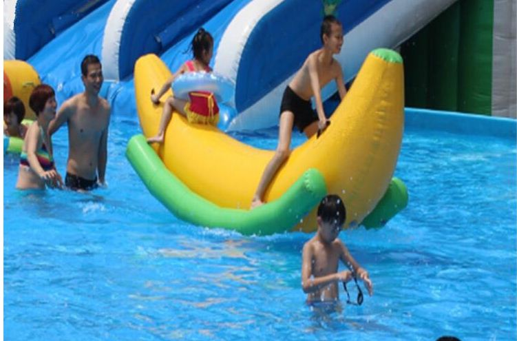 Inflatable Banana Shape Water Seesaw For Water Park