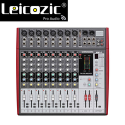 Leicozic 8channel Professional mixing desk BX8 professional audio mixing console MP3 USB player jack mixer audio consola digital