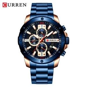 Image 3 - CURREN นาฬิกาผู้ชายสแตนเลสสตีลนาฬิกาข้อมือควอตซ์ทหาร Chronograph ชายนาฬิกาแฟชั่นนาฬิกาสปอร์ตกันน้ำ 8336