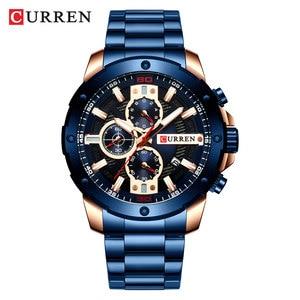 Image 3 - CURREN Horloges Mannen Roestvrij Stalen Band Quartz Horloge Militaire Chronograaf Klok Mannelijke Fashion Sportief Horloge Waterdicht 8336