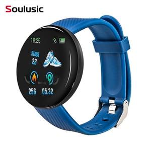 D18 умные часы с круглым кровяным давлением, водонепроницаемые мужские и женские спортивные Смарт-часы, фитнес-трекер для Android IOS PK D13