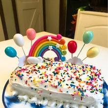 Радужные облака топперы для торта на день рождения флаги кексов