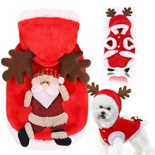 Dog Sweater Puppy-Coat Christmas-Tree Small Costume Deer Cosplay Pattern Santa-Claus