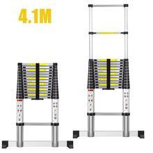 4.1m 14 steps Ladders Foldable Telescopic Herringbone Ladder Stable Non-slip Aluminum Ladder Foldable Extension Ladder Ladders