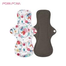 Panty-Liner Menstrual-Pad Sanitary-Napkin Washable Mora Mona Bamboo-Charcoal Feminine-Hygiene