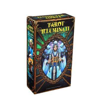 Tarots Illuminati Kit 78 kart talia wróżbiarstwo los rodzina Party gra planszowa zabawka R66E tanie i dobre opinie CN (pochodzenie) R66E7HH402418 English