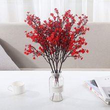 Красный Гипсофила Шелк Искусственный Цветы Вишня Цветы Букет Сделай сам Свадьба Композиция Декор Венок Младенцы Дыхание Подделка Цветы