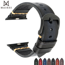In Pelle fatti a mano Orologio Cinturino di Ricambio Per Apple Watch Band 44 millimetri 40 millimetri 42 millimetri 38 millimetri Serie SE 6 5 4 3 2 iWatch Cinturini