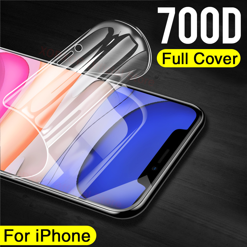 700D Full Cover Screen Protector Hydrogel Film On For IPhone X XR XS MAX Curved Edge Protective Film IPhone 11 Pro Max Not Glass