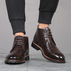Image 4 - Mens Boots Leather Men Big Size38 48 Lace Up Cowboy Boots Man Shoes Male Water Proof Boots New Platform Shoes Botines Hombre