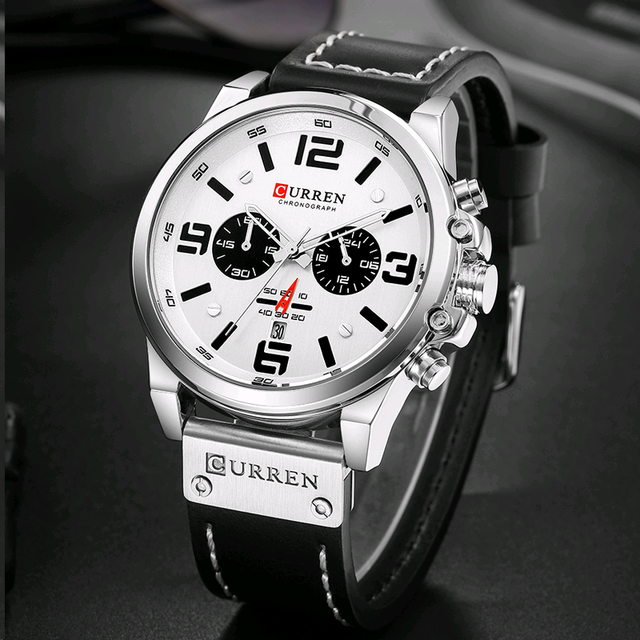 Curren 8314 marca de luxo quartzo relógio masculino militar à prova dmilitary água pulseira couro esporte dos homens relógios moda casual masculino clock clock clock 3