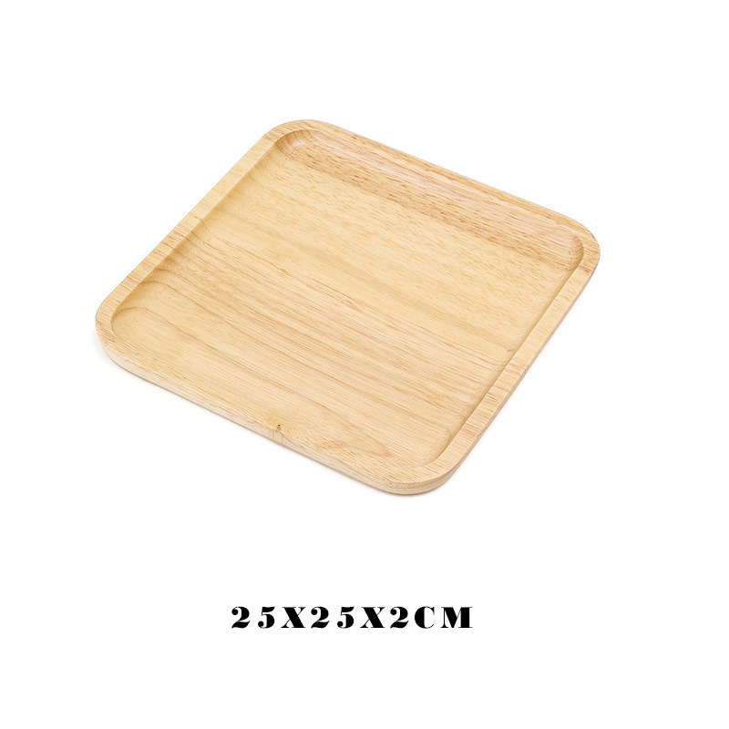 Wooden Round Storage Tray Plate Tea Food Dishe Drink Platter Food Plate Dinner Beef Steak Fruit Snack Tray Home Kitchen Decor - Цвет: 23