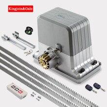 Zware Residentiële Gear Systeem Elektrische Schuifpoort Opener/Schuifdeur Motor Met 4 M Stalen Rekken Afstandsbediening Kit