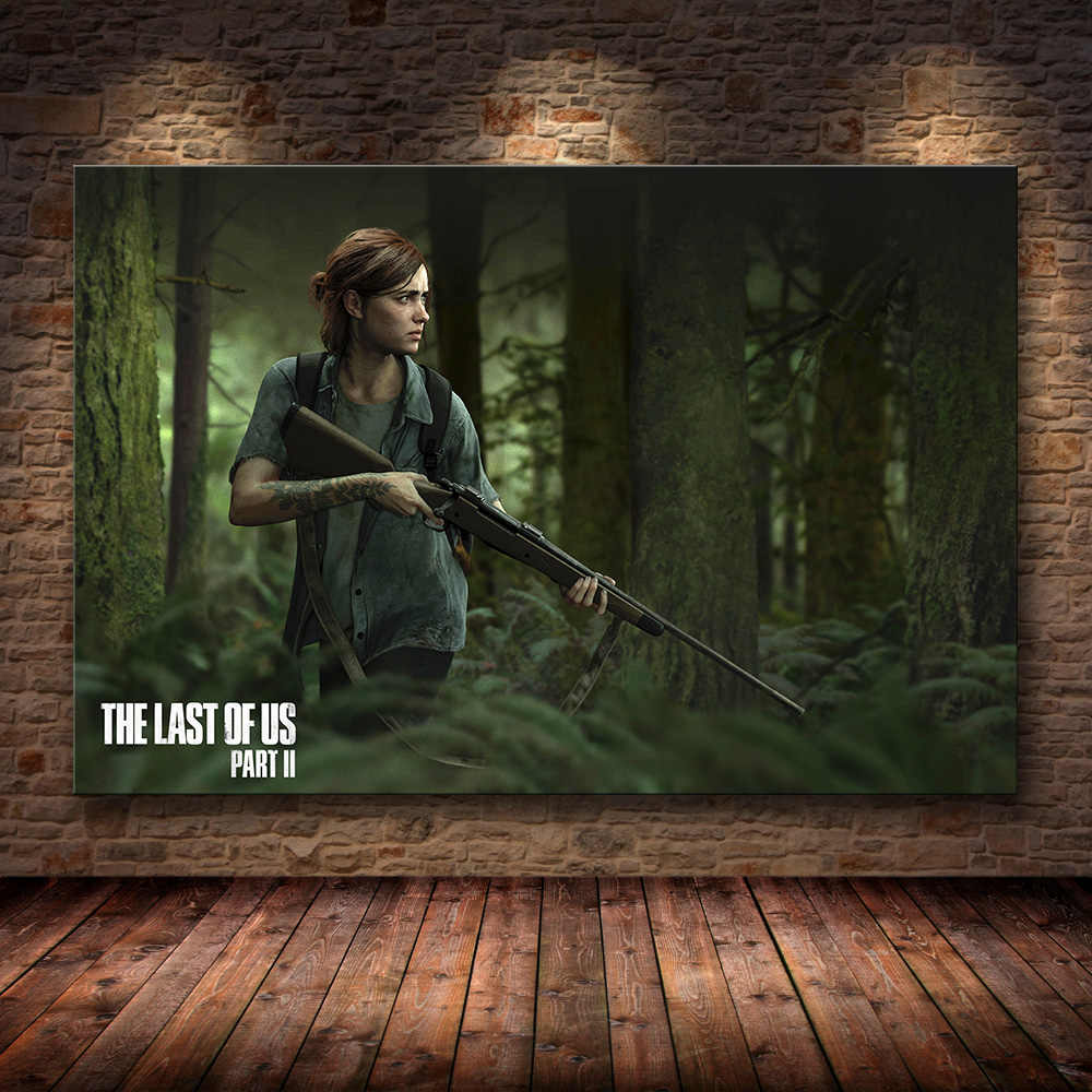The Last of Us Game Canvas Painting Zombie Survival Horror Action Prints and Posters Wall Art Picture for Living Room Home Decor