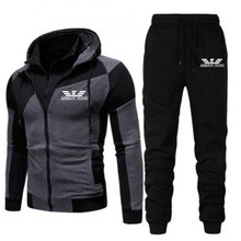 2021 Casual Tracksuit Men Sets Hoodies And Pants Two Piece Sets Zipper Hooded Sweatshirt Outfit Sportswear Male Suit Clothing