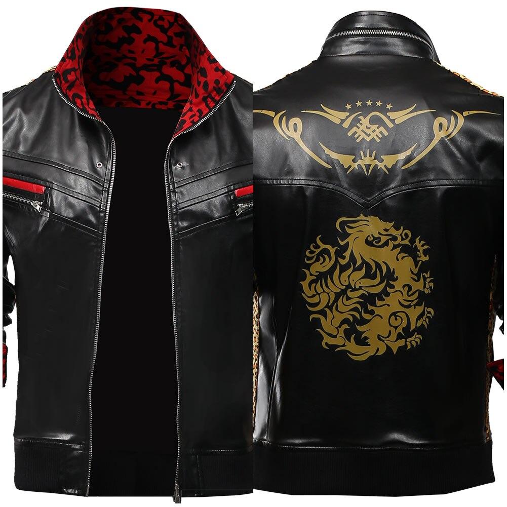 Final fantasia vii remake cosplay traje leslie kyle cosplay adulto jaqueta de couro casaco uniforme halloween carnaval traje