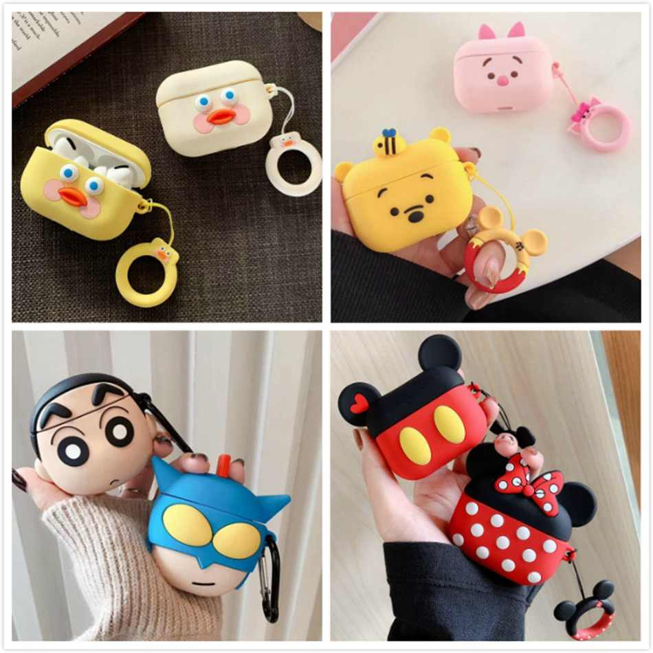 3d Earphone Case For Airpods Pro Case Silicone Butt Cat Cartoon
