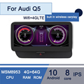 10.25 IPS Android Car Gps Navigation Biult in Wireless Carplay Fit for Audi Q5 2009 -2017 Car Multimedia 4G LTE Funtion