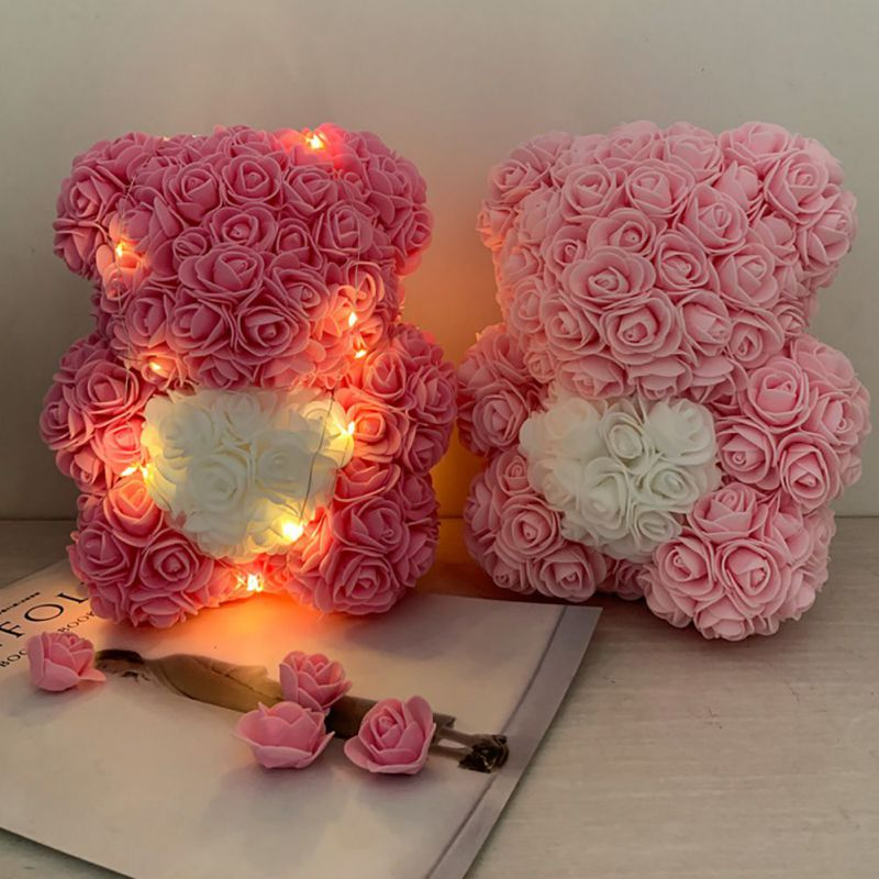 Valentines Romantic Gifts Pe Rose Bear Artificial Rose Decorations Cute Cartoon Girlfriend Gift Mother S Day Gift Without Box Buy At The Price Of 8 08 In Aliexpress Com Imall Com