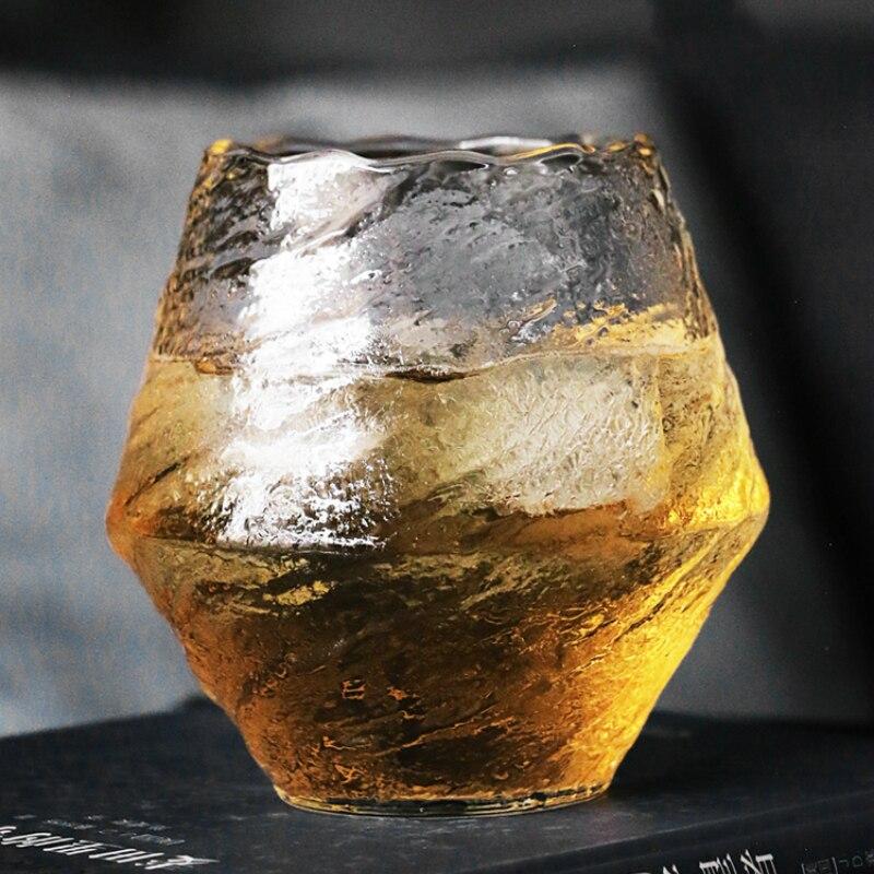 Japan Hand Hammer Pattern Whiskey High Borosilicate Glass Niche Liquor XO Whisky Crystal Wine Glass Cognac Brandy Snifter