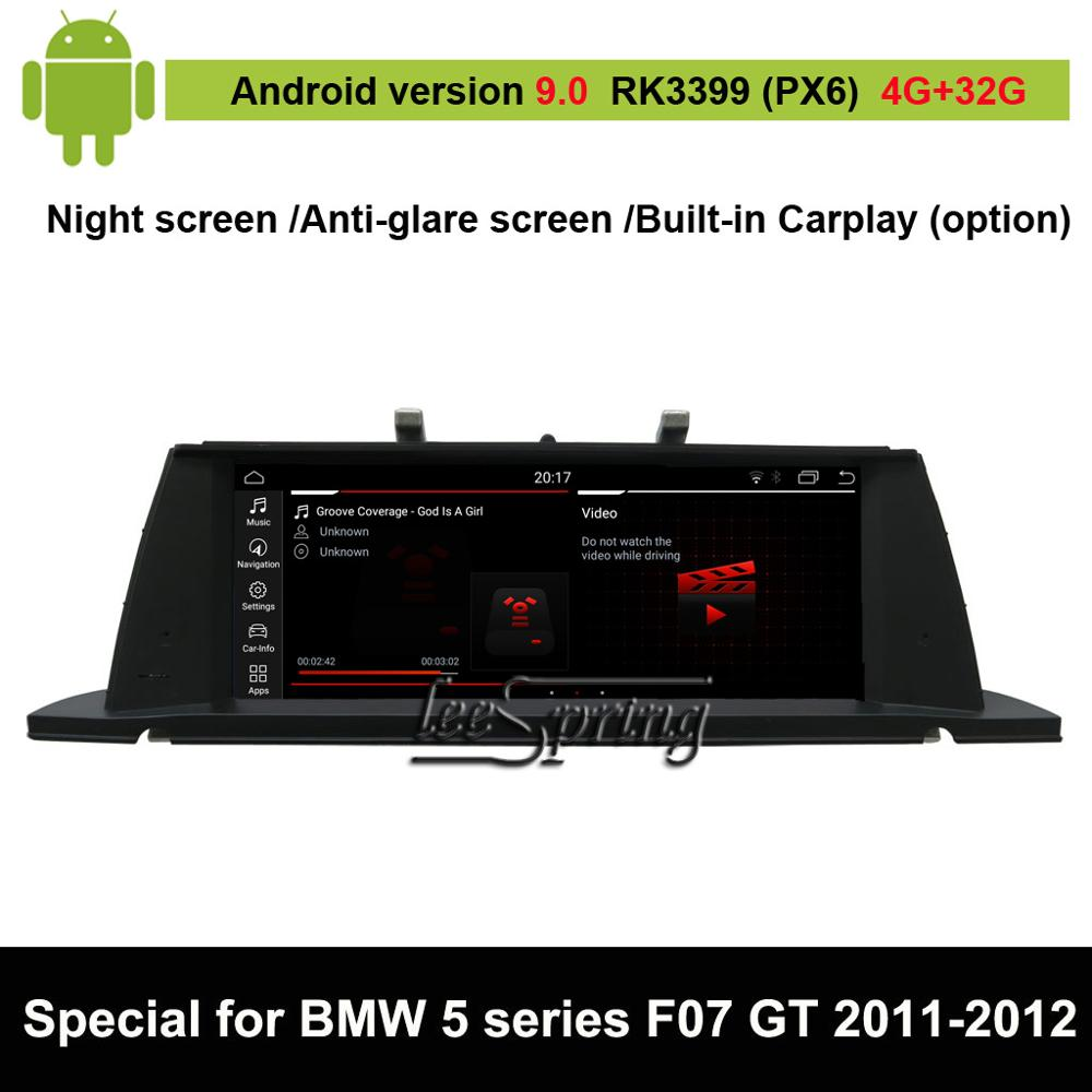 Android 9.0 Car Multimedia Player for BMW 5 Series F07 GT(2013-2017 Original NBT or CIC option) Auto GPS Navigation