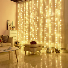 Icicle-String Lights Garland Christmas-Fairy-Lights Window LED Outdoor Home New-Year