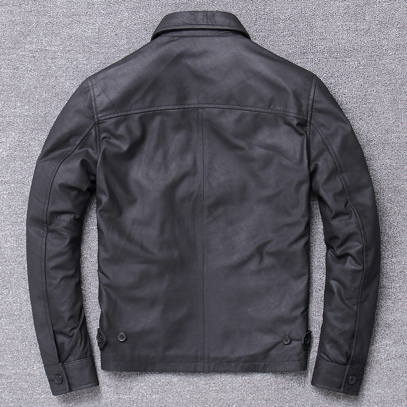 Streetwear 100% Natural Genuine Leather Jacket Men Autumn Spring Clothes 2020 Moto Biker Real Sheepskin Coat Jackets 1930