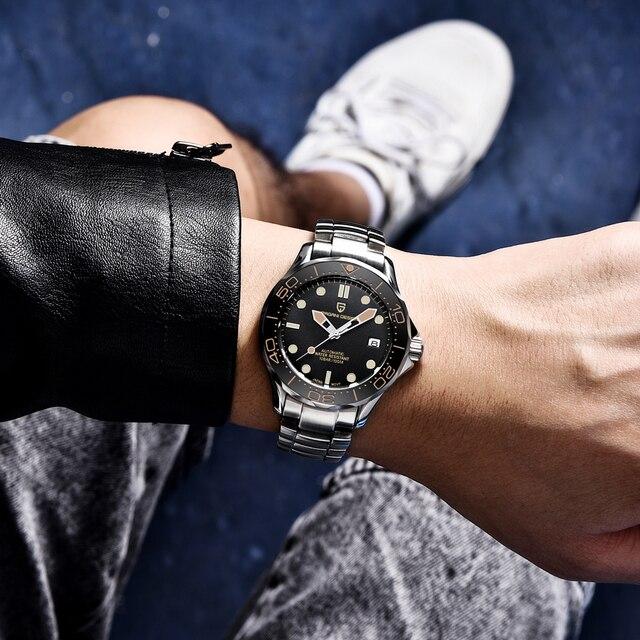 2021 New PAGANI DESIGN 007 Men's Mechanical Watches Brand Luxury Automatic Watch Men Waterproof Wristwatch Japan NH35 Clock man 4