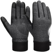 Vbiger, утолщенные зимние спортивные перчатки, теплые перчатки с сенсорным экраном, противоскользящие велосипедные перчатки для мужчин и женщин