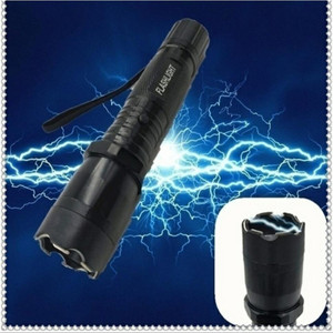 3 in 1 self-defense portable travel lighting electric shock flashlight emergency rechargable flashlight