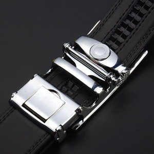 Image 4 - Top Quality Cow Genuine Leather Belt Men Genuine Luxury Leather Belts for Men Strap Male Metal Automatic Buckle