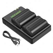 Neewer EN-EL15 EN-EL15A ensemble de chargeur de batterie adapté pour Nikon d750, d7200, d7500, d850, d610, d500, MH-25a, d7200, z6, d810