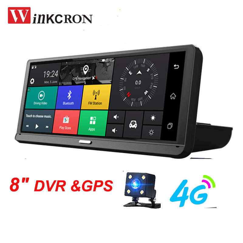DVR Dash-Cam Android Car-Dvr-Camera Gps-Navigator Night-Vision 1080P HD 4G Ips-Touch