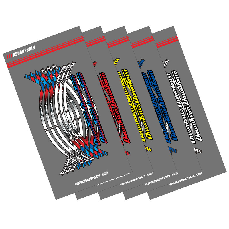 12 Strips Motorcycle Wheel Sticker Reflective Rim Stripe outer Rim Accessory Stickers For KYMCO DOWNTOWN 300i 350i 125 300 200 image