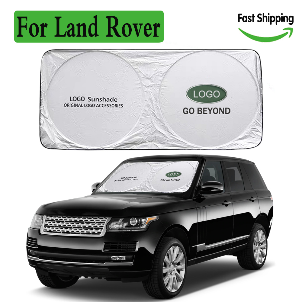Car Windshield Sunshade for Land Rover Parasol Coche Logo Emblem Sun Shade Visor Protector Blind for Rang Rover Sport Discovery