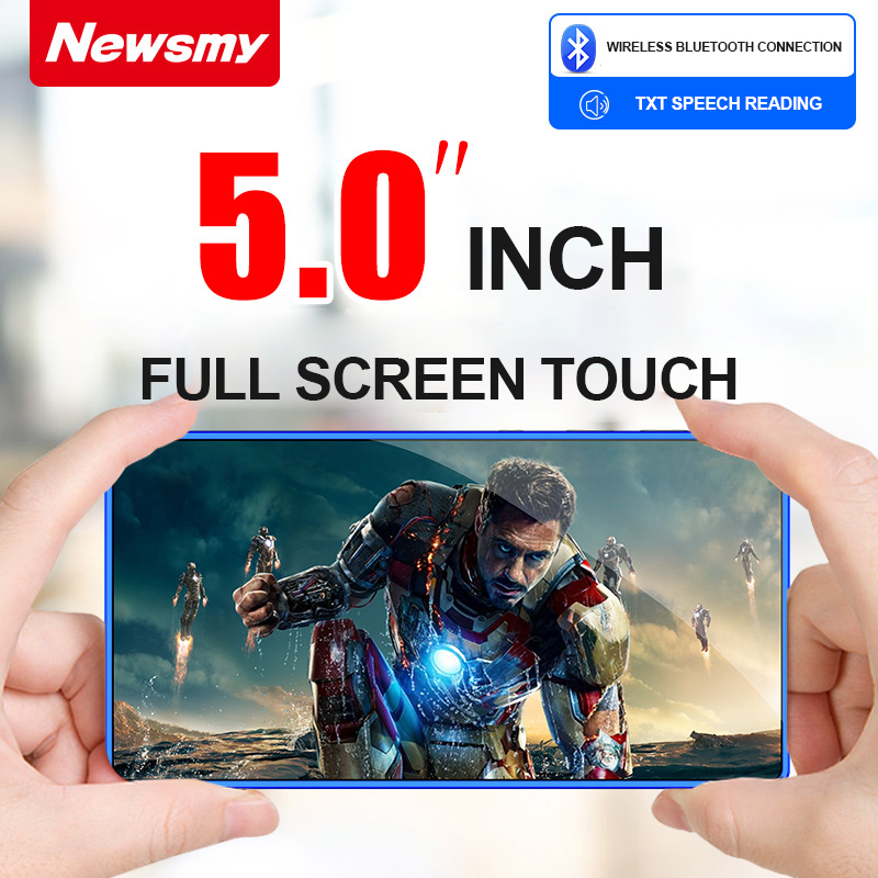 NEW Portable MP4 Player Touchscreen Support Bluetooth 5 Inch Mp3 Novel E-book MP4 Music Player FM Radio Video 8GB 32G Walkman