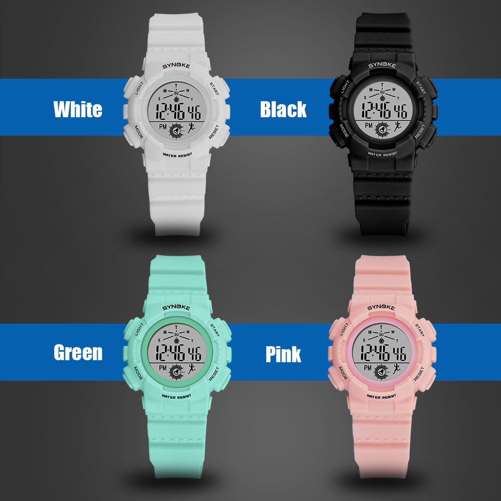 SYNOKE Brand Digital Watch For Girls Boys Student 5ATM Waterproof Electronic Sport Watches Clock High Quality Watch Children enlarge