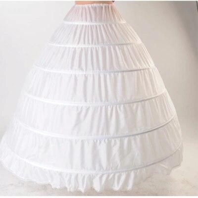 6 Hoop Petticoat Underskirt For Ball Gown Wedding Dress 110cm Diameter Underwear Crinoline Wedding Accessories