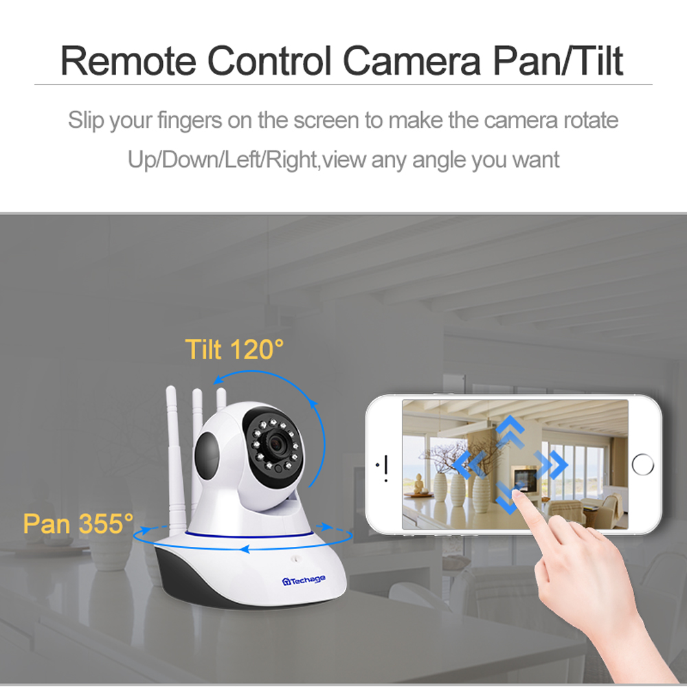 Techage 1080P Wireless IP Kamera IR Nacht Vision Baby Monitor Dome Indoor 2-Audio Video CCTV Wifi sicherheit Überwachung