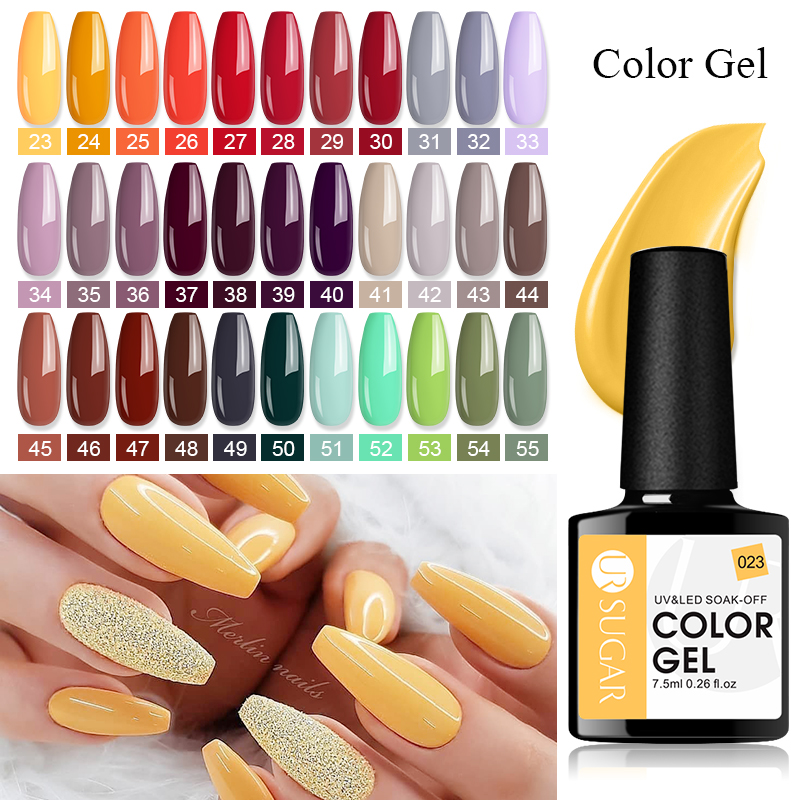 UR SUGAR 7.5ml Translucent Color Gel Polish Jelly Nails UV