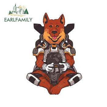 EARLFAMILY 13cm x 8.9cm for German Shepard Apex Gaming Decal Surfboard Laotop Car Stickers Refrigerator Motorcycle Car Styling image