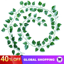 Hanging Wedding Artificial-Ivy Fake Green for Party Garden Wall-Decor 12-Strands Leaf-Plants-Garland